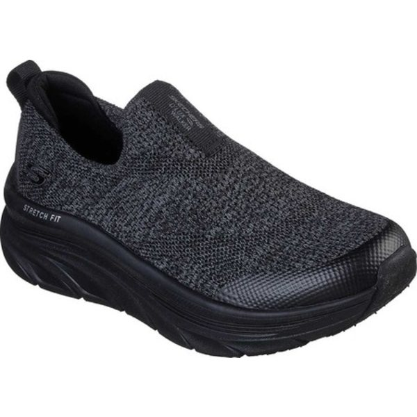 スケッチャーズ レディース スニーカー シューズ Relaxed Fit D'Lux Walker Quick Upgrade Slip-On Black/Black