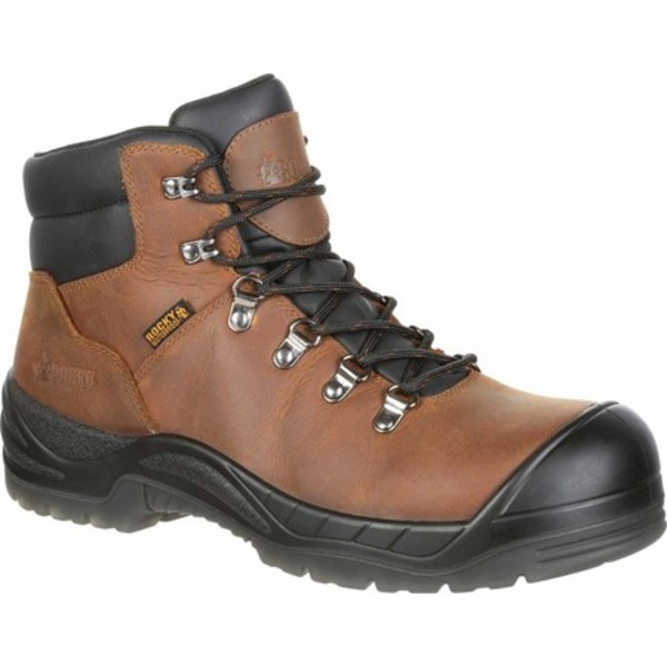 ロッキー メンズ ブーツ&レインブーツ シューズ Worksmart Composite Toe Puncture-Resistant Boot Brown Leather