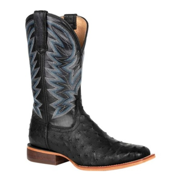 ヂュランゴ メンズ ブーツ&レインブーツ シューズ DDB0273 Exotic Full-Quill Ostrich Western Boot Black Onyx Ostrich/Full Grain Leather