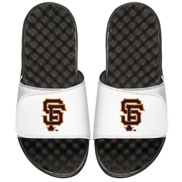 アイスライド メンズ サンダル シューズ San Francisco Giants ISlide Alternate Logo Slide Sandals White