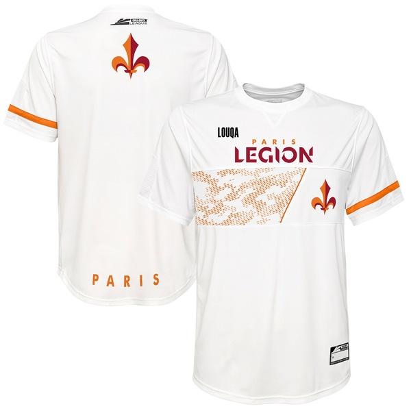 アウタースタッフ メンズ ユニフォーム トップス Louqa Paris Legion Home Jersey White