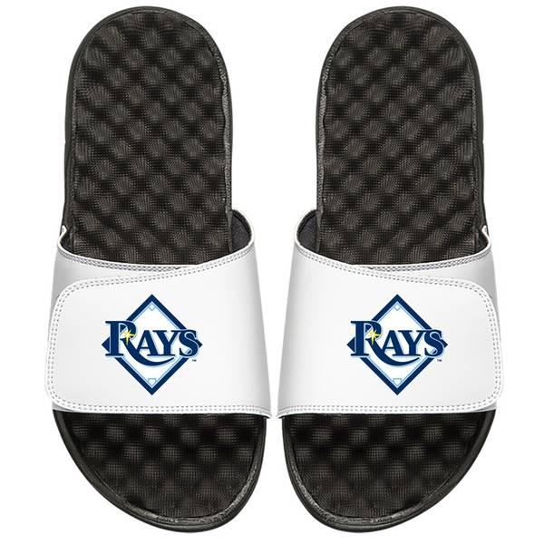 アイスライド メンズ サンダル シューズ Tampa Bay Rays ISlide Alternate Logo Slide Sandals White