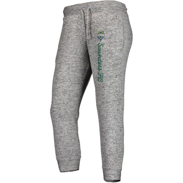 ファナティクス レディース カジュアルパンツ ボトムス Seattle Sounders FC Fanatics Branded Women's Cozy Collection MLS Steadfast Crop Jogger Pant Heathered Gray