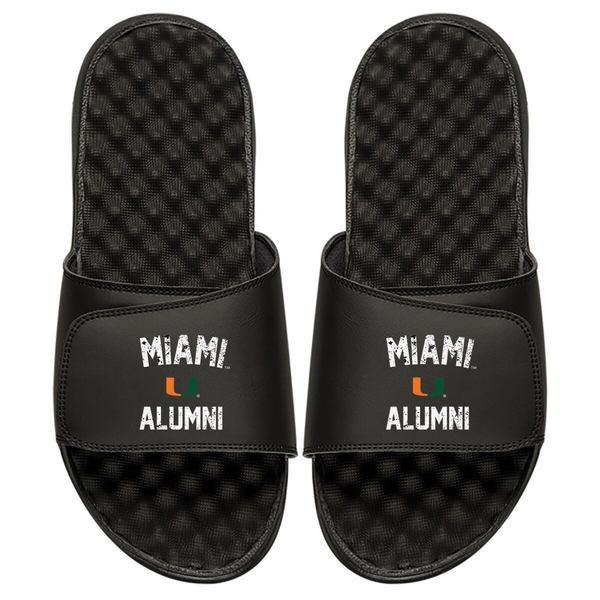 アイスライド メンズ サンダル シューズ Miami Hurricanes ISlide College Alumni Slide Sandals Black