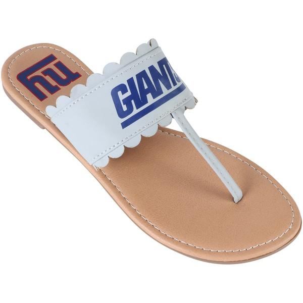 フォコ レディース サンダル シューズ New York Giants Women's Ruffle Sandals Gray