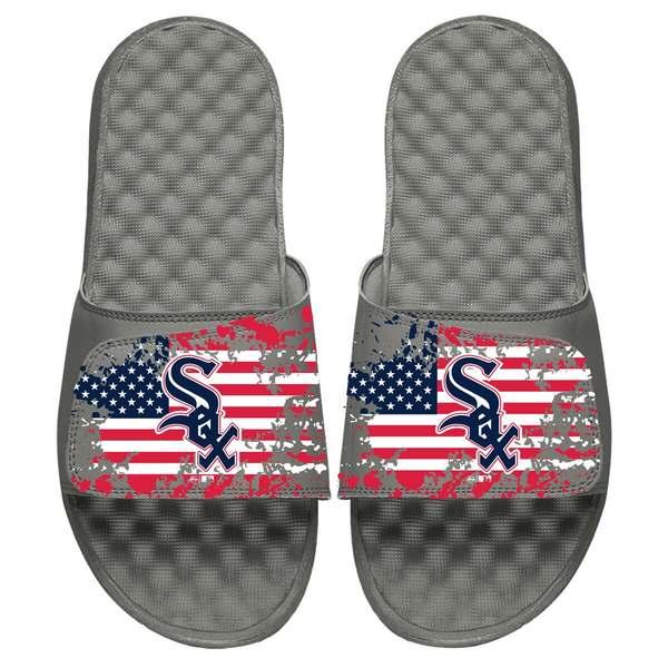 アイスライド メンズ サンダル シューズ Chicago White Sox ISlide American Flag Slide Sandals Gray