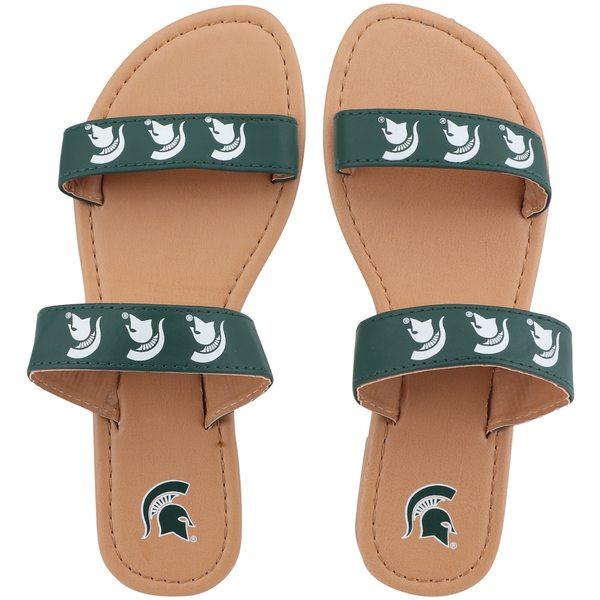 フォコ レディース サンダル シューズ Michigan State Spartans Women's Double Strap Sandals