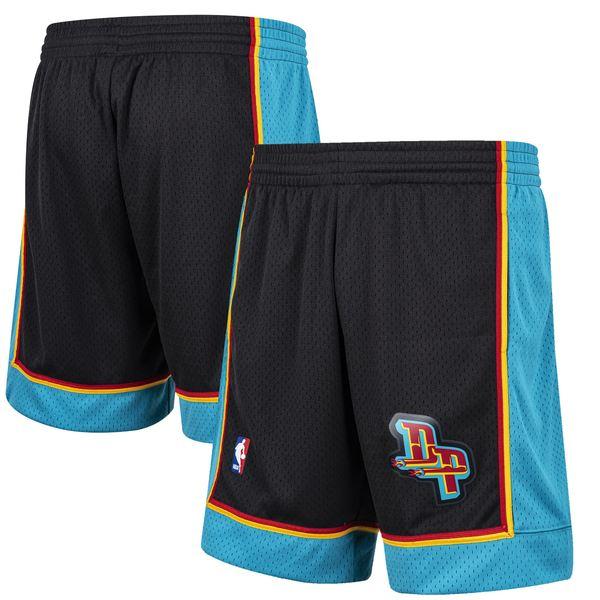 ミッチェル&ネス メンズ ハーフ&ショーツ ボトムス Detroit Pistons Mitchell & Ness Hardwood Classic Reload Swingman Shorts Black