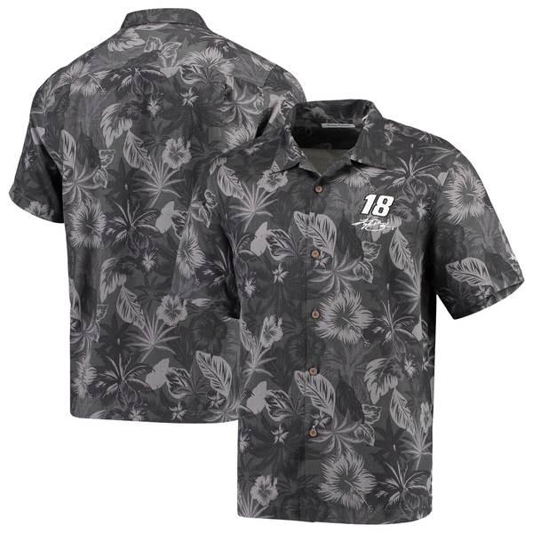 トッミーバハマ メンズ シャツ トップス Kyle Busch Tommy Bahama Fuego Floral Woven ButtonUp Shirt Black