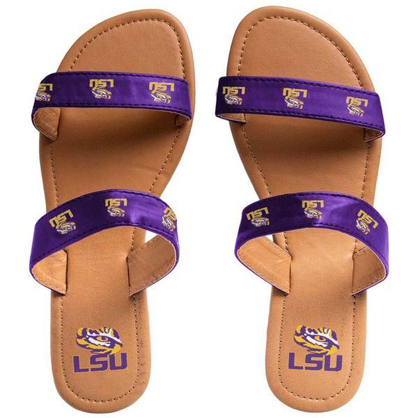 フォコ レディース サンダル シューズ LSU Tigers Women's Double Strap Sandals