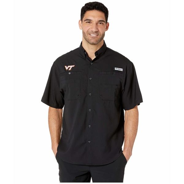 コロンビアカレッジ メンズ シャツ トップス Virginia Tech Hokies Collegiate Tamiami II Short Sleeve Shirt Black
