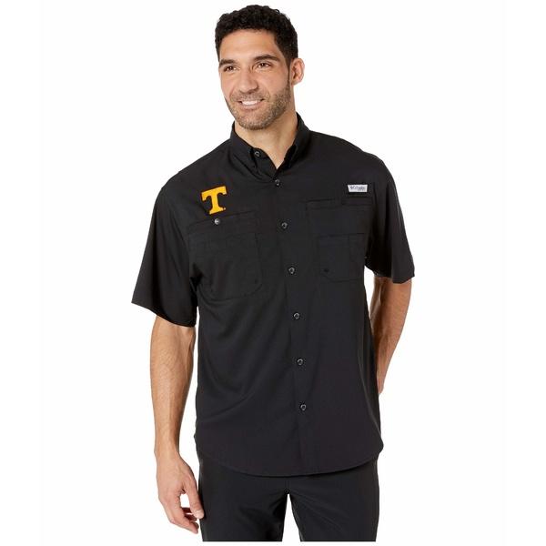 コロンビアカレッジ メンズ シャツ トップス Tennessee Volunteers Collegiate Tamiami II Short Sleeve Shirt Black