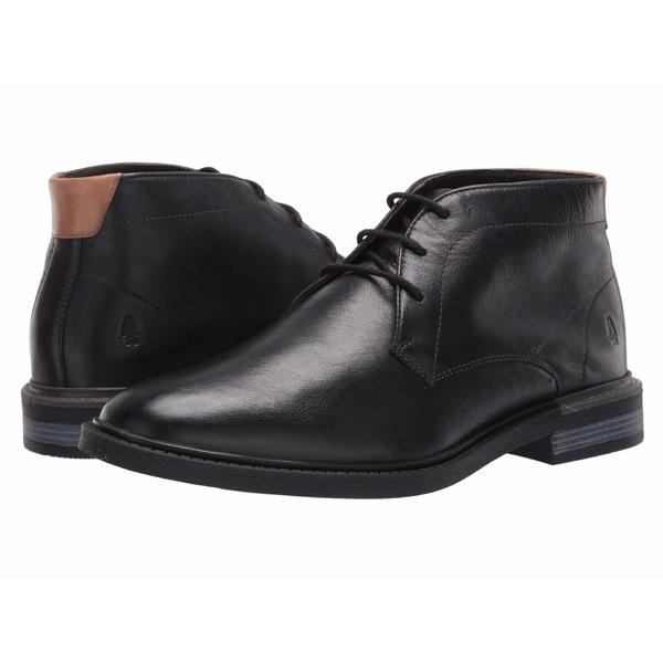 ハッシュパピー メンズ ブーツ&レインブーツ シューズ Davis Chukka Boot Black Leather