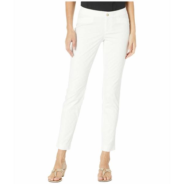 リリーピュリッツァー レディース カジュアルパンツ ボトムス Kelly Textured Ankle Length Skinny Pants Resort White