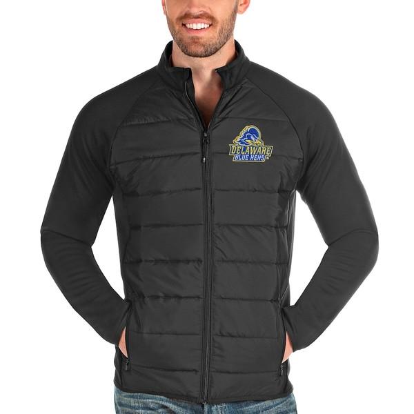 アンティグア メンズ ジャケット&ブルゾン アウター Delaware Fightin' Blue Hens Antigua Altitude Full-Zip Jacket Charcoal