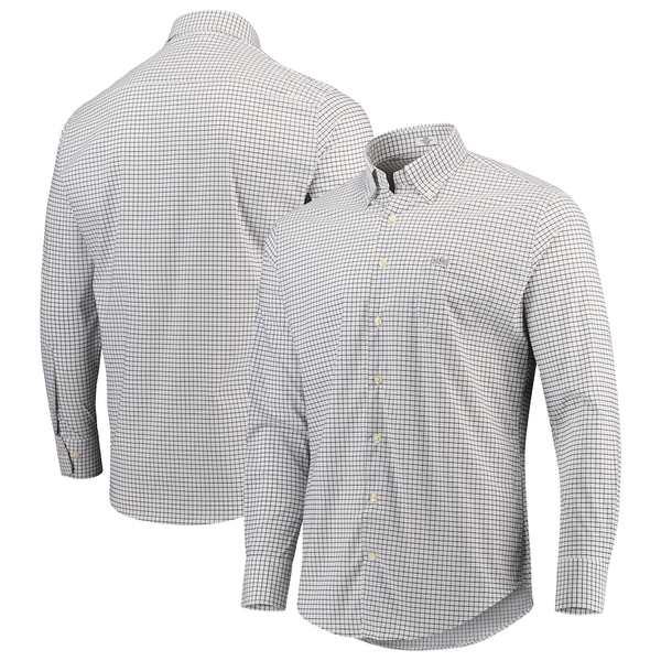 ピーター・ミラー メンズ シャツ トップス Ohio State Buckeyes Peter Millar Stretch Tattersall Woven Button-Down Shirt White/Black