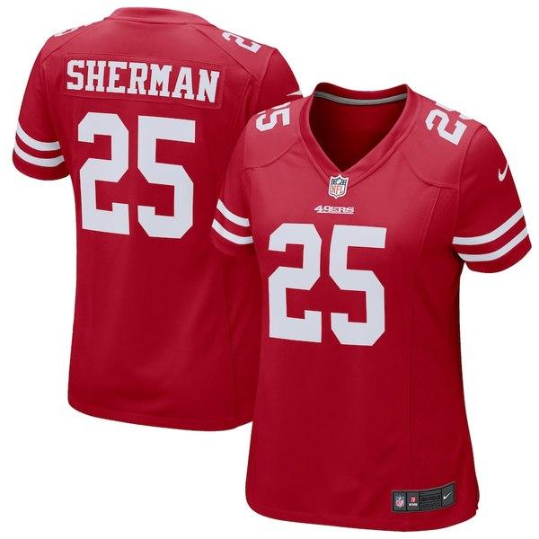 ナイキ レディース シャツ トップス Richard Sherman San Francisco 49ers Nike Women's Game Jersey Scarlet