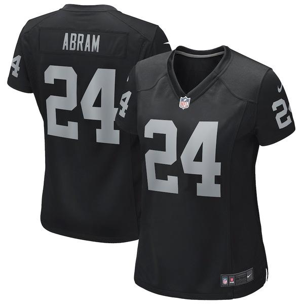 ナイキ レディース シャツ トップス Johnathan Abram Las Vegas Raiders Nike Women's Game Jersey Black