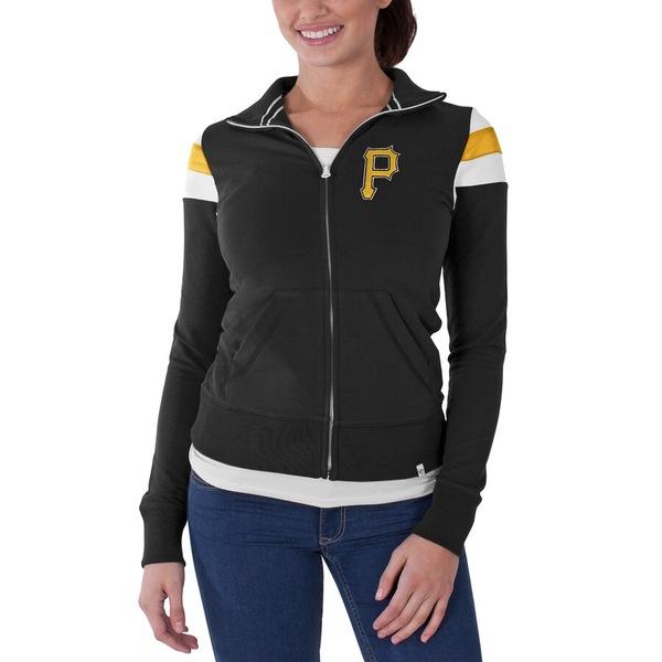 フォーティーセブン レディース ジャケット&ブルゾン アウター Pittsburgh Pirates '47 Women's Crossover Full Zip Track Jacket Black