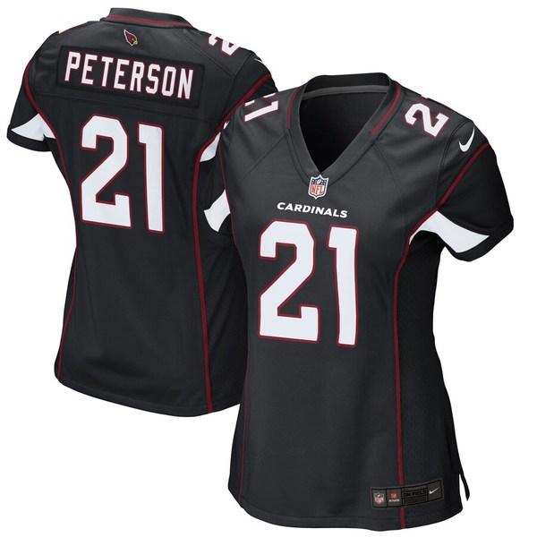 ナイキ レディース シャツ トップス Patrick Peterson Arizona Cardinals Nike Women's Game Jersey Black