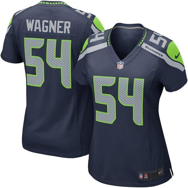 ナイキ レディース シャツ トップス Bobby Wagner Seattle Seahawks Nike Women's Game Player Jersey College Navy