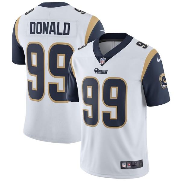 ナイキ メンズ シャツ トップス Aaron Donald Los Angeles Rams Nike Vapor Untouchable Limited Player Jersey White