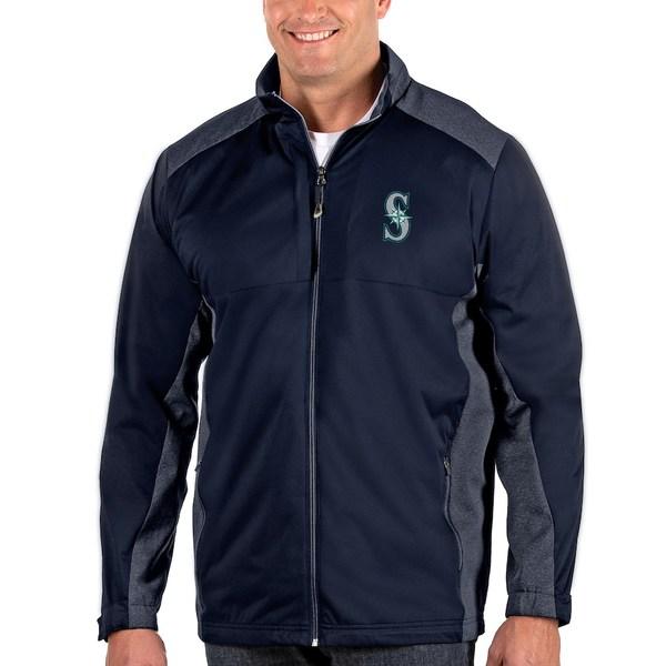 アンティグア メンズ ジャケット&ブルゾン アウター Seattle Mariners Antigua Revolve Big & Tall Full-Zip Jacket Navy