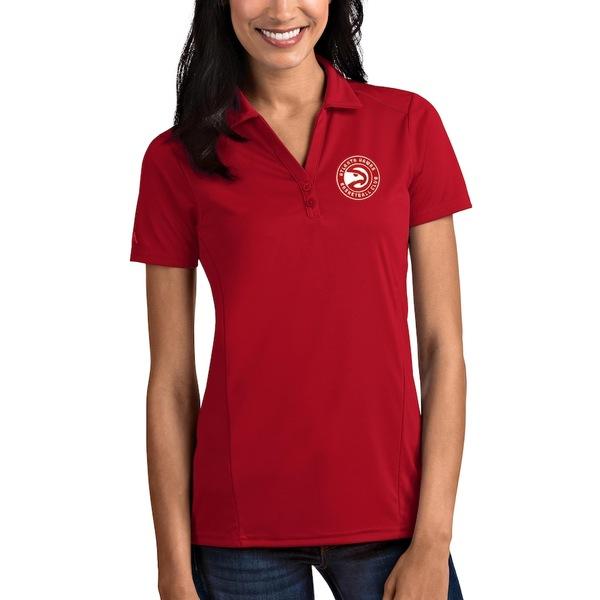 アンティグア レディース ポロシャツ トップス Atlanta Hawks Antigua Women's Tribute Polo Red