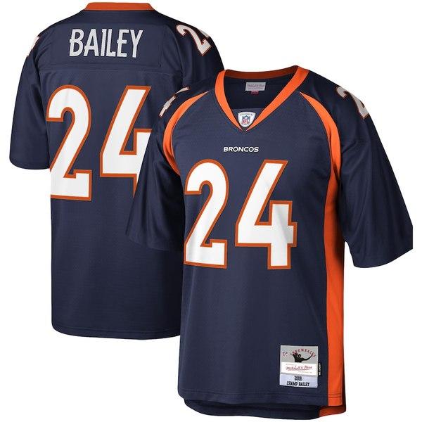 ミッチェル&ネス メンズ シャツ トップス Champ Bailey Denver Broncos Mitchell & Ness Legacy Replica Jersey Navy