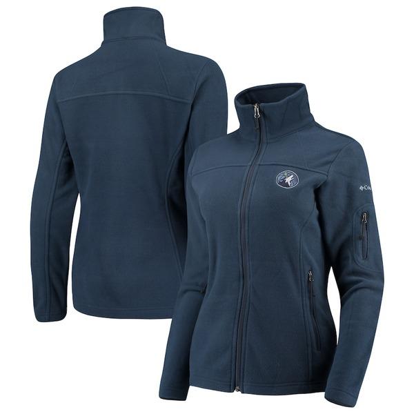 コロンビア レディース ジャケット&ブルゾン アウター Minnesota Timberwolves Columbia Women's Give & Go Full-Zip Jacket Navy