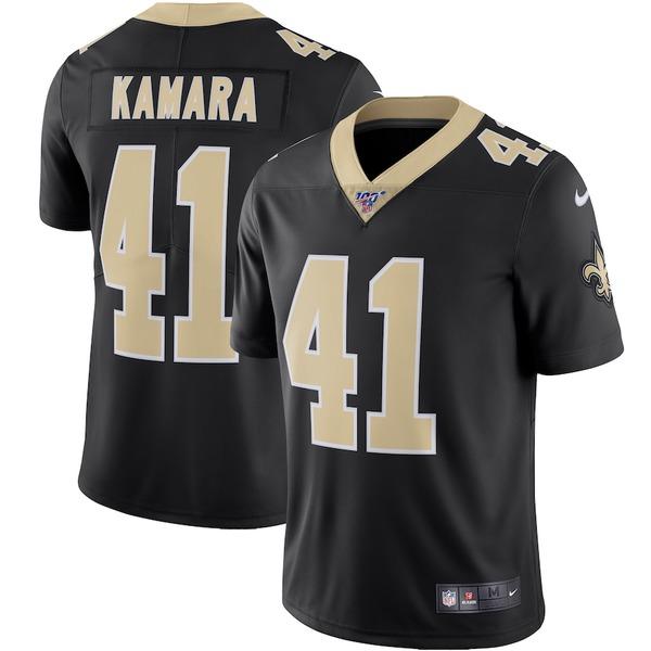 ナイキ メンズ シャツ トップス Alvin Kamara New Orleans Saints Nike NFL 100 Vapor Limited Jersey Black