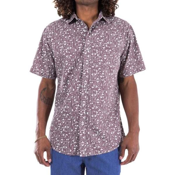 ケイティン メンズ シャツ トップス Katin Tile Short-Sleeve Shirt Mauve