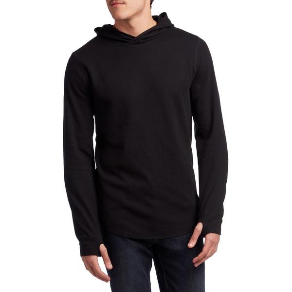 ローク メンズ パーカー・スウェットシャツ アウター Roark Lobo Long-Sleeve Thermal Hoodie Black
