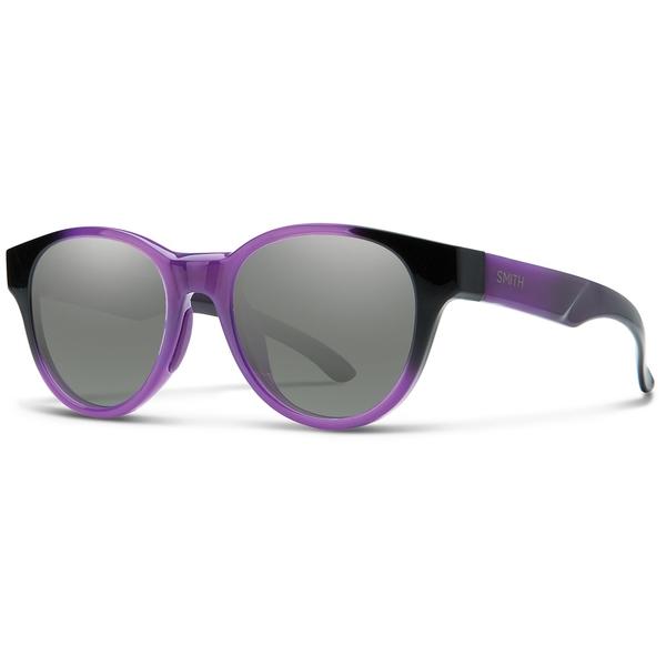 スミス メンズ サングラス・アイウェア アクセサリー Smith Snare Sunglasses Violet Spray/Purple Mirror