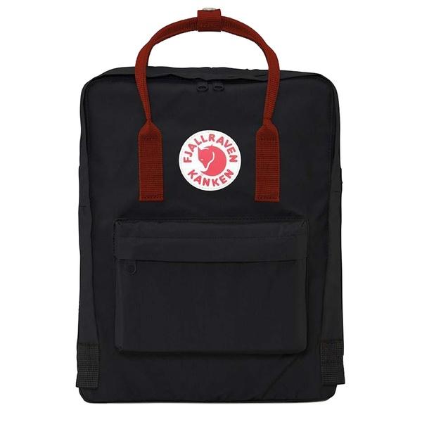 フェールラーベン メンズ バックパック・リュックサック バッグ Fjallraven Kanken Backpack Black-Ox Red