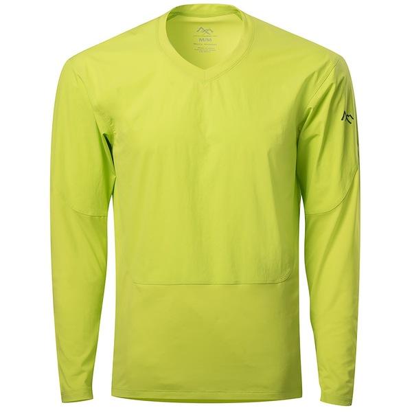 センブンメッシュ メンズ シャツ トップス 7Mesh Compound LS Shirt Hi Lite Yellow
