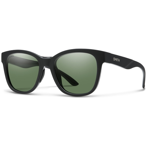 スミス レディース サングラス&アイウェア アクセサリー Smith Caper Sunglasses - Women's Matte Black/Polarized Gray Green