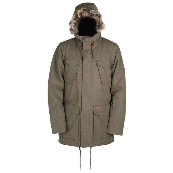 ライド メンズ ジャケット&ブルゾン アウター Ride Union Parka Jacket Olive Wash Out
