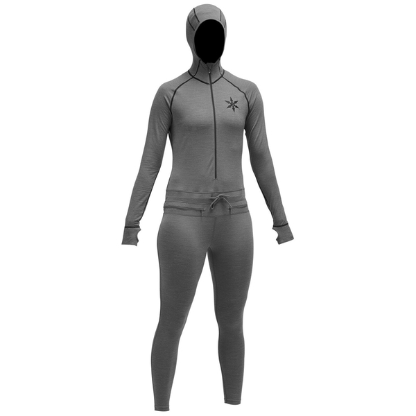 エアブラスター レディース カットソー トップス Airblaster Merino Ninja Suit - Women's Natural Black