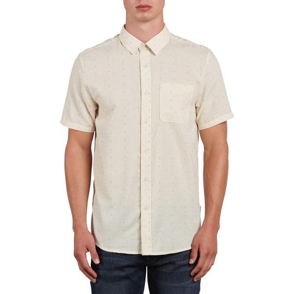 ボルコム メンズ シャツ トップス Volcom Dobler Short-Sleeve Shirt White Flash