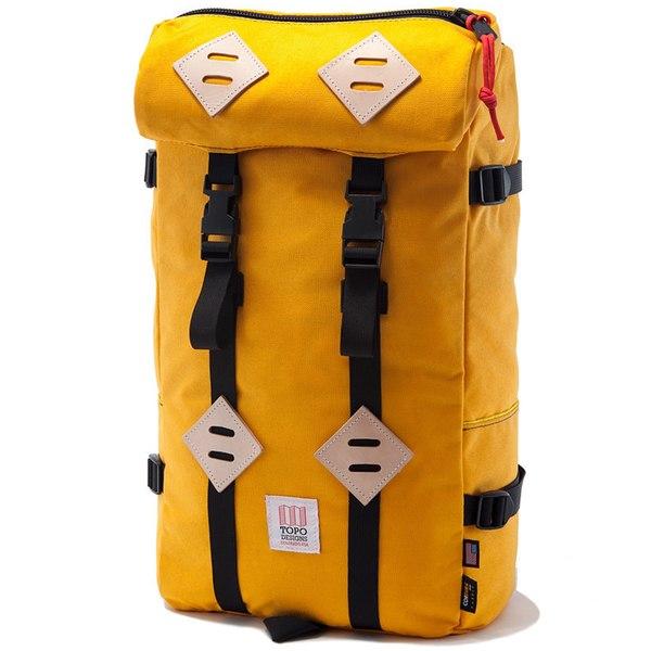 トポ・デザイン メンズ バックパック・リュックサック バッグ Topo Designs Klettersack 22L Backpack Saffron