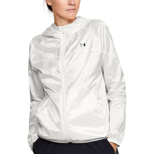 アンダーアーマー レディース ジャケット&ブルゾン アウター Under Armour Women's Woven Translucent Full-Zip Jacket OnyxWhite/Black
