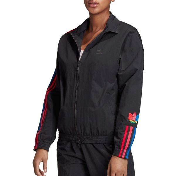 アディダス レディース ジャケット&ブルゾン アウター adidas Women's 3-Stripes Originals Track Jacket Black