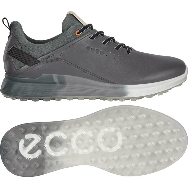 エコー メンズ ゴルフ スポーツ ECCO Men's S-Three Golf Shoe Concrete