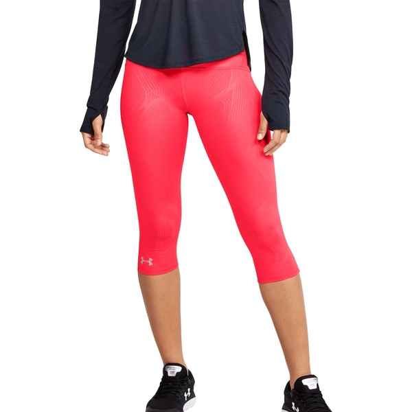 アンダーアーマー レディース カジュアルパンツ ボトムス Under Armour Women's Fly Fast Printed Speed Capris Running Leggings HushedPink/Black