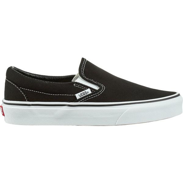 Vans 卸売り レディース シューズ スニーカー Black 返品交換不可 White Classic Shoes バンズ Slip-On 全商品無料サイズ交換
