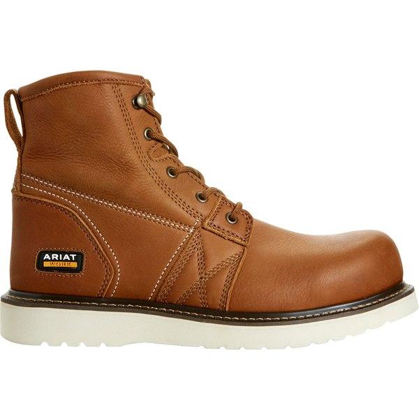 アリアト メンズ ブーツ&レインブーツ シューズ Ariat Men's Rebar Wedge 6'' Work Boots Grizzly