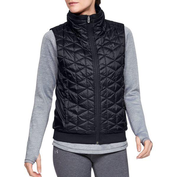 アンダーアーマー レディース ジャケット&ブルゾン アウター Under Armour Women's ColdGear Reactor Performance Vest OnyxWhite