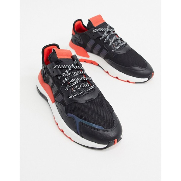 アディダスオリジナルス メンズ スニーカー シューズ adidas Originals Nite Jogger sneakers in black Black