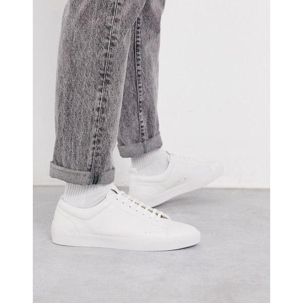 フューゴ メンズ スニーカー シューズ HUGO Zero tennis sneakers in white White